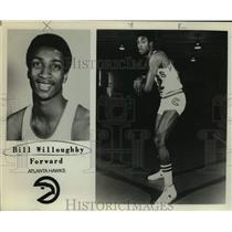 Press Photo Atlanta Hawks basketball player Bill Willoughby - sas15929