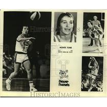 Press Photo Denver Nuggets basketball player Monte Towe - sas15981