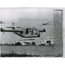 1955 Press Photo XV3 Convertiplane, a New-Type of Plane Pictured in Flight