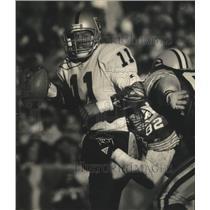 1993 Press Photo Los Angeles Raiders - Vince Evans in Football Game - mjt06111
