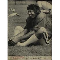 1973 Press Photo New York Jets quarterbac Joe Namath at Hofstra University