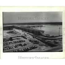 1981 Press Photo Aerial view of Houston Intercontinental Airport Terminal C