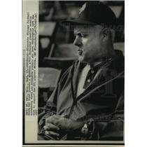 1975 Press Photo Minnesota Vikings coach Bud Grant after practice in St. Paul
