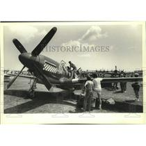 1982 Press Photo P-51B Mustang, World War II fighter at Oshkosh air show