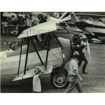 1983 Press Photo plane parking, Experimental Aviation Association convention, WI