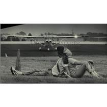 1985 Press Photo Francis and Theresa Malinowski at Experimental Aircraft Assoc