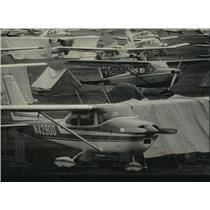 1985 Press Photo Experimental Aircraft Association convention in Oshkosh, WI