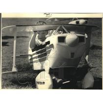 1986 Press Photo Daniel Whipple Experimental Aircraft Association Fly-in Oshkosh