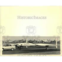1987 Press Photo Voyager aircraft at Experimental Aircraft Association Fly-In