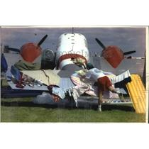 1993 Press Photo Beechcraft 18 plane at Experimental Aircraft Association Fly-In