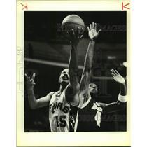 1984 Press Photo San Antonio Spurs basketball player John Lucas - sas17634