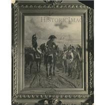 1931 Press Photo Framed painting hanging at Albany, NY Museum of History & Art