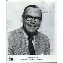1977 Press Photo Philadelphia 76ers basketball president F. Eugene Dixon Jr.