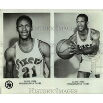 1976 Press Photo Philadelphia 76ers basketball player Lloyd Free - nos14116