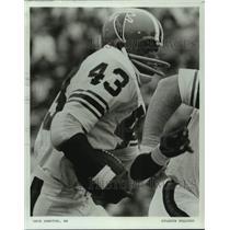 1977 Press Photo Atlanta Falcons running back Dave Hampton - nos14538