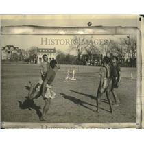 1924 Press Photo An exhibition game at New York University of takraw from Siam.