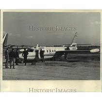 1973 Press Photo An Israel Aircraft Industries plane prepares for demonstration