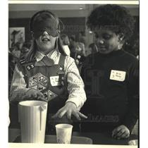 "1992 Press Photo Students at McKinley Elementary at ""Understanding Differeneces"""