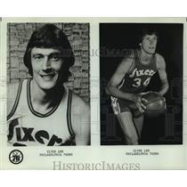 1976 Press Photo Philadelphia 76ers Clyde Lee - nos18624
