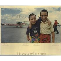 1991 Press Photo Daniel and Michael Shanklin, Child Cross Country Pilots