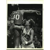 1984 Press Photo San Antonio Spurs & Portland Trail Blazers in Basketball Game