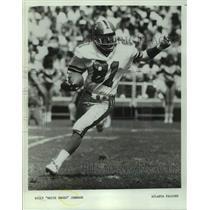 "1983 Press Photo Atlanta Falcons football player Billy ""White Shoes"" Johnson"