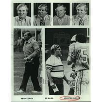 1984 Press Photo Houston Oilers coach Ed Biles - nos16359