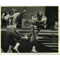 1984 Press Photo Atlanta Falcons Alfred Jenkins Scores - nos19345