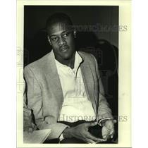 1986 Press Photo Miami Dolphins football player Mike Irvin - nos16445