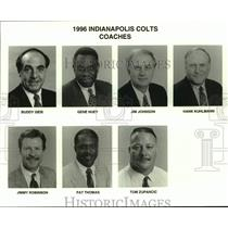 1996 Press Photo Indianapolis Colts football coaches mug shots - nos16878