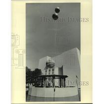 1985 Press Photo Milwaukee Journal balloons, Rainbow Summer, Peck Pavilion, WI
