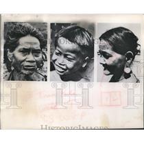 1962 Press Photo Vietcong Enemies Include Montagnard Mountain People Of Vietnam