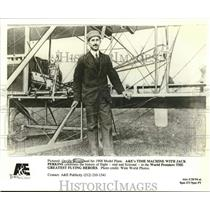 1908 Press Photo Orville Wright With His 1908 Model Plane - lrx40021