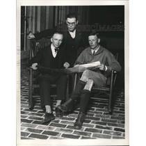 1957 Press Photo Pilots, Clarence Chamberlain, George Noville, Chas. Lindbergh