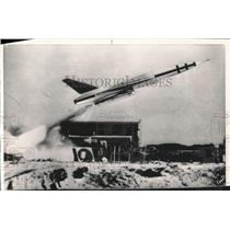 """1958 Press Photo Air Force missile the """"Goose"""" takes off at Cape Canaveral, FL"""