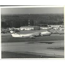 1977 Press Photo U.S Air Force YC-1411B Stretched StarLifter by Lockheed-Georgia