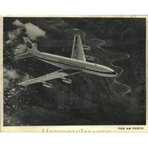 1958 Press Photo Pan American World Airways, the Boeing 707 - nox41697