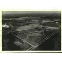 1984 Press Photo Aerial View of Batas Airfield Construction, Alabama - amra06319