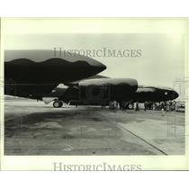 1985 Press Photo B-52 Bomber to be displayed at Battleship Park, Alabama