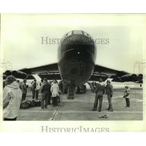 1985 Press Photo B-29 Bomber airplane on display, Alabama - amra03704