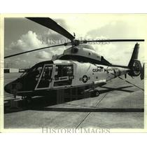 1985 Press Photo Helicopter at Coast Guard Aviation Training Center in Alabama