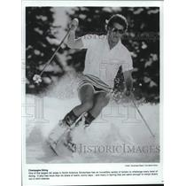 1987 Press Photo Skier at Snowmass Resort in Colorado - hca53511