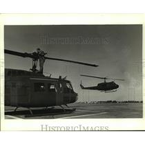 1988 Press Photo National Guard helicopters taking off, Alabama - amra06739