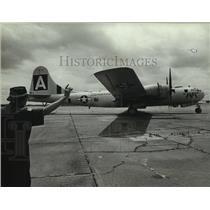 1989 Press Photo B-29 airplane on display, Alabama - amra03685