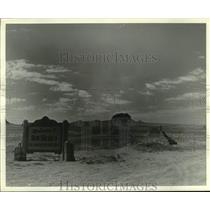 """1966 Press Photo """"Welcome to New Mexico the Land of Enchantment"""" sign"""