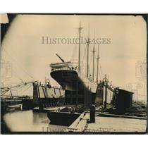 1900 Press Photo Augustus A. Babcock Ship at Pinto Drydock, Mobile, Alabama