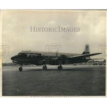 1957 Press Photo Exterior of Delta Airlines DC 7B - lrx42231