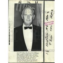 1968 Press Photo Famed aviator Charles Lindbergh photographed at NY Plaza Hotel