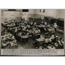 1954 Press Photo Raid Drill Alarm operations Civil US - RRX67619
