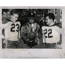 1953 Press Photo Al Miller Illinois College Coach Jerry - RRW65603